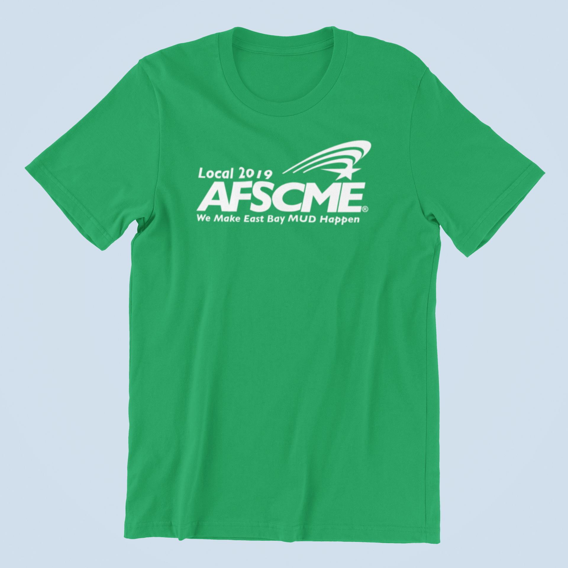 Mockup of AFSCME Local 2019 T-shirt